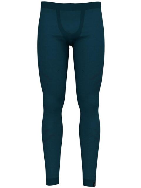 Odlo Suw Natural + Kinship Warm Bottom Pants Men blue coral melange